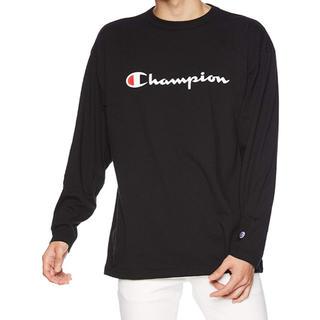 チャンピオン(Champion)のチャンピオン 新品 ロンT 大きいサイズ 4L 長袖 ロングスリーブTシャツ 黒(Tシャツ/カットソー(七分/長袖))