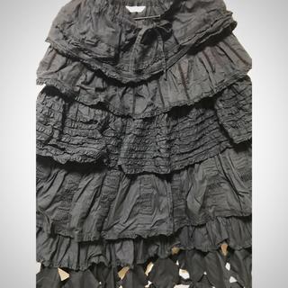 カネコイサオ(KANEKO ISAO)のワンダフルワールド 新品近 豪華 ピコフリル ティアード ウエストゴム スカート(ロングスカート)
