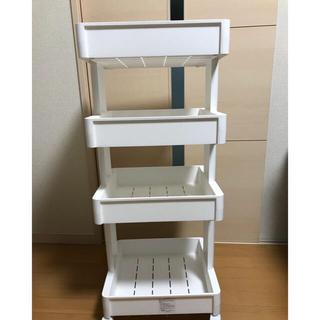 新品 4段 カート   キッチンワゴン   キャスター付き  (収納/キッチン雑貨)