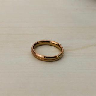 ザキッス(THE KISS)のピンクゴールドリング ハートのケース 箱付き(リング(指輪))