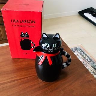 リサラーソン(Lisa Larson)のリサラーソン/くろねこのPia/ティーポット(食器)