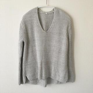 MUJI (無印良品) - やや訳あり☆無印 ザックリ Vネック コットンニット セーター