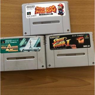 スーパーファミコン(スーパーファミコン)のスーパーファミコン カセット3本セット(家庭用ゲームソフト)