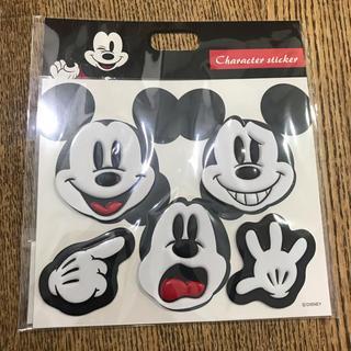 ディズニー(Disney)の新品未開封☆ミッキー レザーステッカー フェイス ディズニーストア(シール)