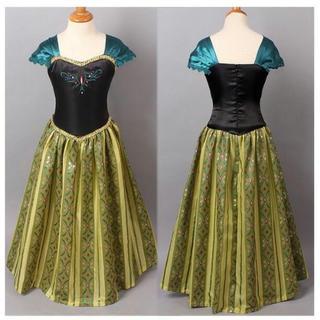 キッズ 子供服 アナと雪の女王 ディズニー プリンセス  ドレス ワンピース(衣装一式)