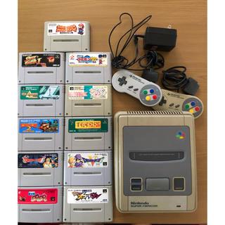 スーパーファミコン(スーパーファミコン)のスーパーファミコン 本体 +カセット11本(家庭用ゲーム本体)