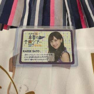 ノギザカフォーティーシックス(乃木坂46)の佐藤楓 東京ドーム カード(女性アイドル)