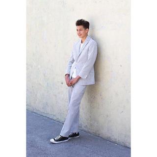 シュプリーム(Supreme)のほぼ新品 Supreme x Brooks Brothers スーツ 正規品(セットアップ)