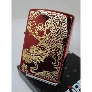 ジッポー(ZIPPO)のZippo ゴールド 金 レッドドラゴン(龍・竜リュウ)赤(タバコグッズ)