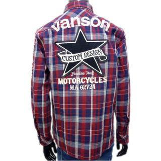 バンソン(VANSON)の送料無料バンソンNVSL-810ヘビーネルシャツチェックシャツ長袖シャツ赤L(シャツ)