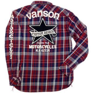 バンソン(VANSON)の送料無料バンソンNVSL-810ネルシャツチェックシャツバイカー赤3L(XXL)(シャツ)