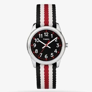 タイメックス(TIMEX)のTIMEX kids タイムティーチャー ブラック(腕時計)