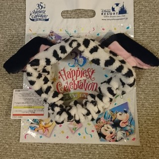 ディズニー(Disney)の☆ディズニーリゾート限定☆ 101匹わんちゃん ダルメシアン ヘアバンド(ヘアバンド)