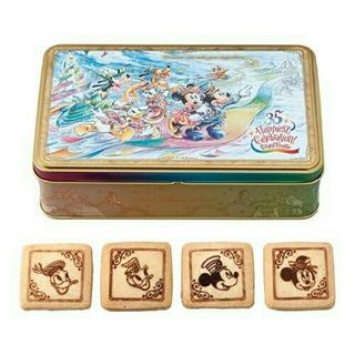 ディズニー(Disney)のディズニー 35周年 グランドフィナーレ クッキー缶♪(菓子/デザート)