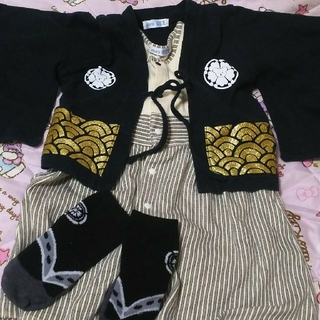 ベビー服 袴 ロンパース 70(カバーオール)