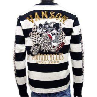 バンソン(VANSON)の送料無料バンソン/トムとジェリーTJV-902コラボ長袖TシャツボーダーL(Tシャツ/カットソー(七分/長袖))