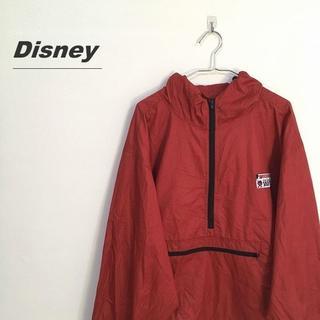 ディズニー(Disney)のディズニー プルオーバー ジャケット レッド フード付 L-330(ブルゾン)