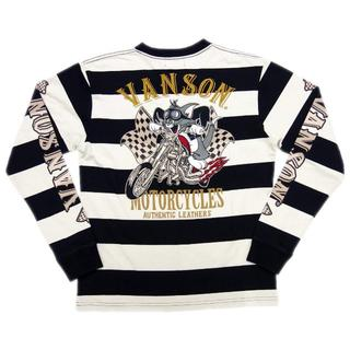 バンソン(VANSON)の送料無料バンソン/トムとジェリーTJV-902長袖TシャツボーダーLL(XL)(Tシャツ/カットソー(七分/長袖))