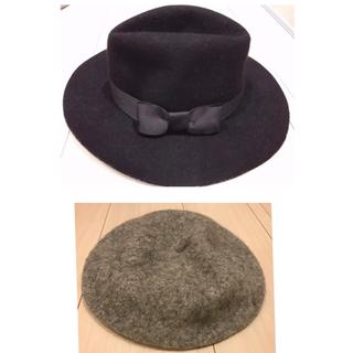 イング(INGNI)の INGNI りぼん ハット & グレーベレー帽(ハット)