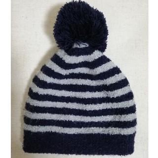 MUJI (無印良品) - 無印良品 ニット帽 のびのび帽子 ボンボン付き