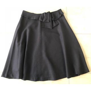 クチュールブローチ(Couture Brooch)の【 クチュールブローチ 】ウエストリボンスカート 36/S(ひざ丈スカート)