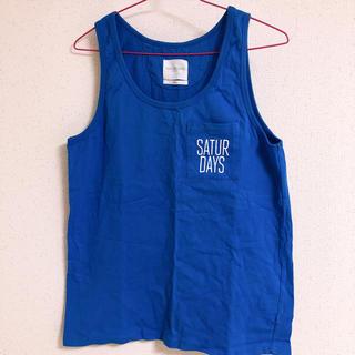サタデーズサーフニューヨークシティー(SATURDAYS SURF NYC)のSATURDAYS タンクトップ ブルー(Tシャツ/カットソー(半袖/袖なし))