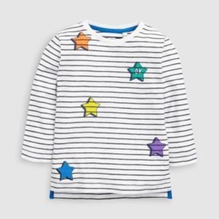 ネクスト(NEXT)の新品!ネクスト 長袖Tシャツ◇ホワイト スター(シャツ/カットソー)