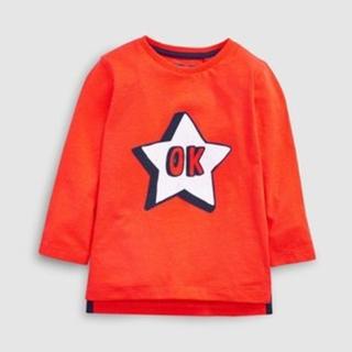 ネクスト(NEXT)の新品!ネクスト 長袖Tシャツ◇オレンジ スター(シャツ/カットソー)