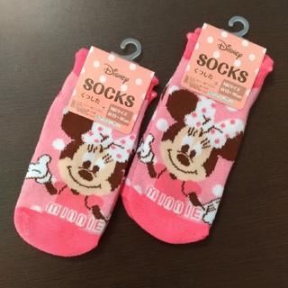 ディズニー(Disney)の[13〜16cm]Disneyミニーちゃん靴下 2枚セット(靴下/タイツ)