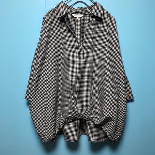 しまむら - ギンガムチェックスキッパーシャツ