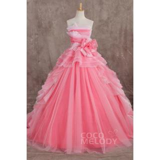 【送料無料】cocomelody♡カラードレス(ピンク)