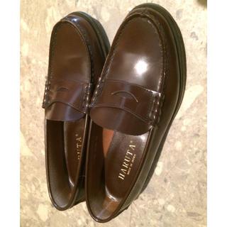ハルタ(HARUTA)のHARUTA 本革 24㎝ 茶色ローファー(ローファー/革靴)