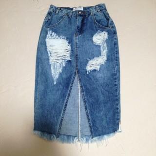 ZARA - ダメージタイトスカート