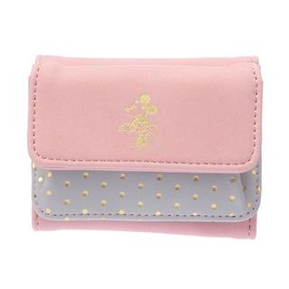 ディズニー(Disney)のディズニー 財布 ミニ財布 コンパクト 折りたたみ財布 ミニー 三つ折り財布(財布)