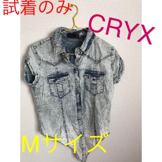 クリックス(CRYX)の【美品】CRYX デニムシャツ Mサイズ(シャツ/ブラウス(半袖/袖なし))