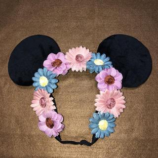 ディズニー(Disney)のディズニー カチューシャ ミニーお花デザイン2018(カチューシャ)