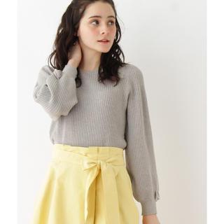 クチュールブローチ(Couture Brooch)の【 クチュールブローチ 】袖リボンニット(ニット/セーター)