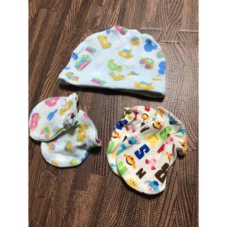 ディズニー(Disney)のDisney 新生児 帽子 ミトンセット(帽子)