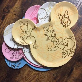 ディズニー(Disney)の♡Disny♡ プラスチック 皿 4枚セット(食器)