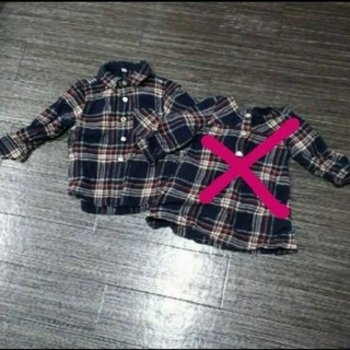 ムジルシリョウヒン(MUJI (無印良品))の無印良品 チェックシャツ(Tシャツ/カットソー)