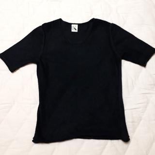 クリツィア(KRIZIA)のKRIZIA 半袖  サイズ40 ブラック(ニット/セーター)