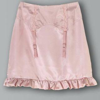 イーハイフンワールドギャラリーボンボン(E hyphen world gallery BonBon)のガーターペプラムサテンスカート(ミニスカート)