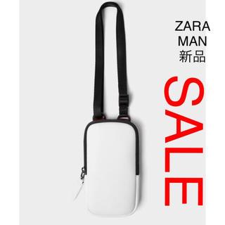 ザラ(ZARA)のZARA MAN 携帯電話バック ホワイト、(その他)