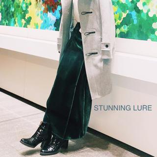 スタニングルアー(STUNNING LURE)のSTUNNING LURE 今期★ベロア ロングスカート 巻きスカート グリーン(ロングスカート)