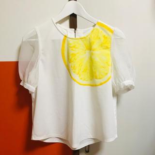 ドットアンドストライプスチャイルドウーマン(Dot&Stripes CHILDWOMAN)のDot&Stripes CHILDWOMAN パフスリーブブラウス(シャツ/ブラウス(半袖/袖なし))