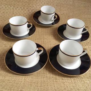 タチキチ(たち吉)のたち吉RICHFIELDカップ&ソーサー5客セット(グラス/カップ)
