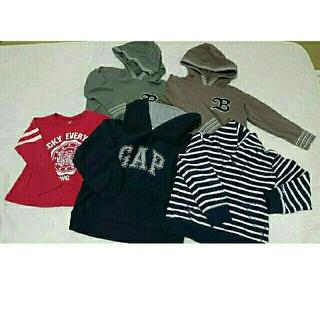 ギャップキッズ(GAP Kids)の長袖セット 5枚 110cm~120cm(Tシャツ/カットソー)