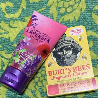 バーツビーズ(BURT'S BEES)のハワイで購入 ラベンダー&ハニーハンドクリーム burts bees リップ(リップケア/リップクリーム)