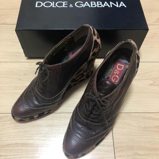 ドルチェアンドガッバーナ(DOLCE&GABBANA)のドルチェ&ガッバーナ/ドルガバ/オックスフォード/ハラコ(ローファー/革靴)