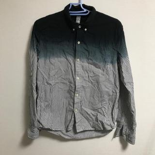 シマムラ(しまむら)のRAGOUT 白黒ストライプシャツ Mサイズ(シャツ)